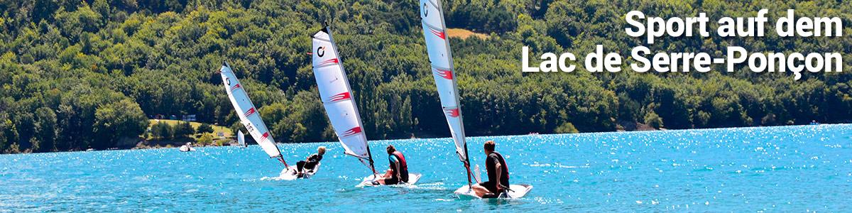 Sport auf dem Lac de Serre-Poncon