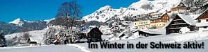 Im Winter in der Schweiz aktiv!