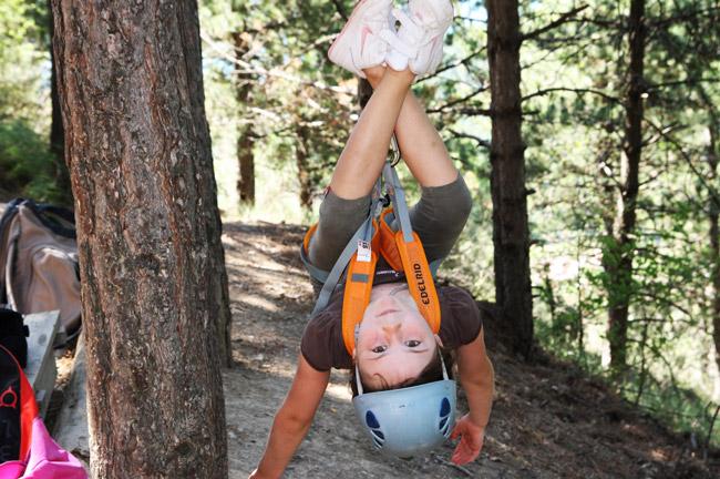 Klettern im Sommercamp