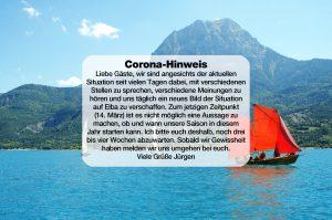 Corona-Hinweis von AF-Reisen